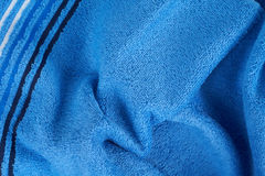 Blue terry towel Stock Image