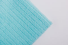 Blue terry towel Stock Photos