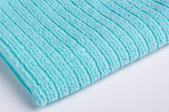 Blue terry towel Royalty Free Stock Image
