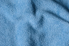 Blue terrycloth. Close up of light blue terrycloth Stock Photography