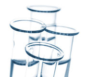 Blue Test Tubes Royalty Free Stock Photos
