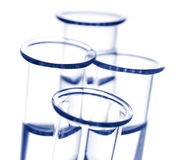Blue Test Tubes Stock Photos