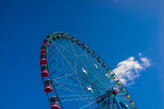 Blue Texas Ferris Wheel with Blue Sky Stock Photography