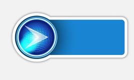 Blue Text Box Stock Photo