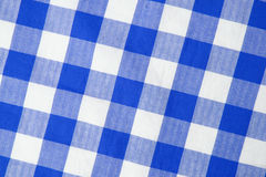 Blue textile. A Blue textile gingham background Stock Photography