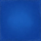 Blue textile background with seams. Around Royalty Free Stock Images