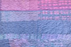 Blue textile background from silk stitched scarf royalty free stock images