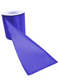 Blue textile roll Royalty Free Stock Image