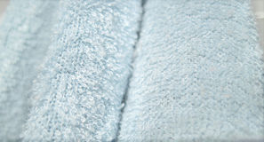 Blue texture. Blue cloth showing a closeup of its texture Stock Image