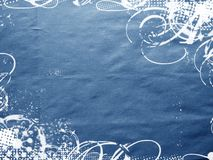 Blue texture. D background with curls Stock Photos