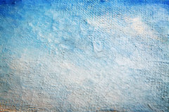 Blue texture. Painted canvas background with blue color Royalty Free Stock Photos