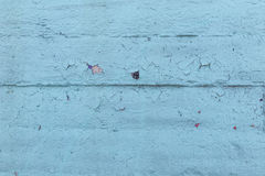Blue texture with cracked paint Stock Photos