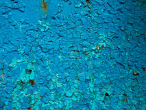 Blue texture. Texture of the old cracked blue paint Stock Photography