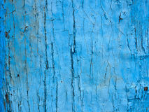 Blue texture. Texture of the old cracked blue paint Stock Image