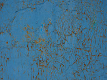 Blue texture. Texture of the old cracked blue paint Royalty Free Stock Image