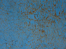 Blue texture. Texture of the old cracked blue paint Royalty Free Stock Photos