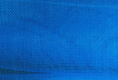 Blue Texture of plastic net Stock Images