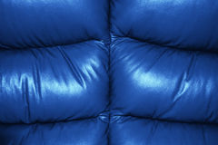 Blue Texture of Sofa Leather. Background Royalty Free Stock Images