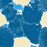 Blue texture. Vector murble background. Watercolor hand drawn marbling illustration. Royalty Free Stock Photos