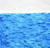 Blue  in texture wall and  morocco africa abstract Stock Photo