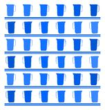 Blue Texture with water pitcher  Stock Photos