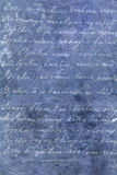 Blue texture with white letters Royalty Free Stock Images