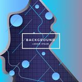 Blue textured background circle composition dynamic form. Vector royalty free illustration