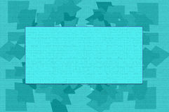 Blue Textured Card Template Stock Images