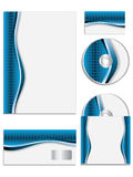 Blue textured company vector set Stock Images