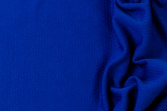 Blue textured fabric Stock Image