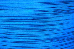 Blue textured fabric with stripes Royalty Free Stock Image