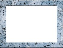 Blue textured picture frame Royalty Free Stock Photos