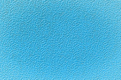 Blue textured plastic. Stock Photo