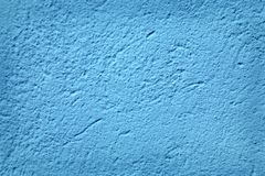 Blue Textured Stucco Wall Royalty Free Stock Image