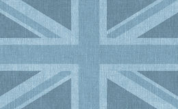 Blue textured UK flag Royalty Free Stock Photos
