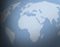Blue textured world map Stock Images