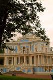 The royal pavilion in the city of Lomonosov (Oranienbaum) stock images