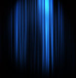 Blue theater curtain. With center spotlight royalty free illustration