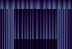 Blue theater curtain Stock Image