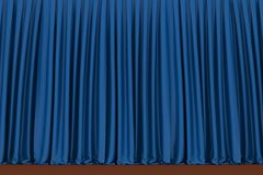 Blue theater curtain, background Stock Photography