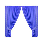 Blue theater curtain isolated on white background Royalty Free Stock Image