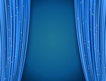 Blue theater curtains Royalty Free Stock Photo