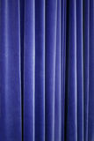 Blue Theater Velvet Curtain. Closeup royalty free stock photography