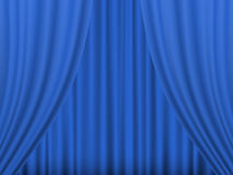 Blue theatre curtain Royalty Free Stock Images
