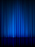 Blue theatre curtain vertical Stock Photos