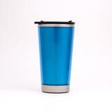 Blue thermal mug Royalty Free Stock Photos