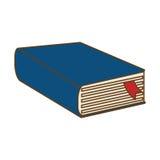 Blue thick book icon design stock illustration