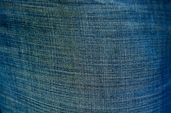 Blue thick cloth fabric Stock Image
