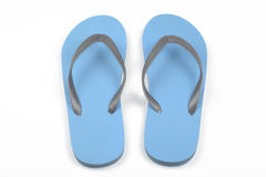 Blue thongs. On white background Royalty Free Stock Photo