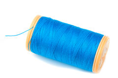 Blue Thread Stock Image